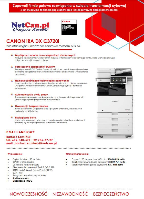 Canon DX C3720i promocja